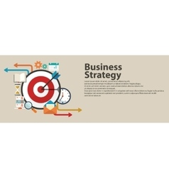 Business strategy concept Flat banner design vector image