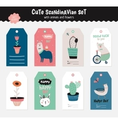 Cute scandinavian set vector image vector image