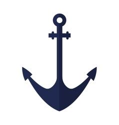 Ship anchor maritime frame vector
