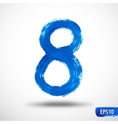 Watercolor Eight Number Grunge Background vector image vector image