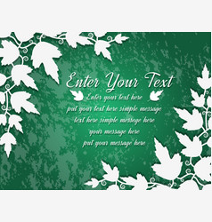 background leaves green vector image