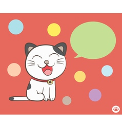 cat talking with speech bubble vector image