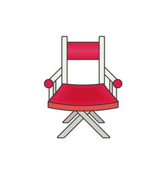 directors chair flat vector image