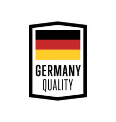 germany quality isolated label for products vector image vector image