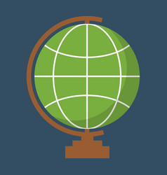globe geography tool icon vector image vector image