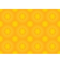 pattern with orange slices vector image