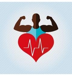 gym concept design vector image