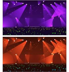 set of empty stage rock concert vector image