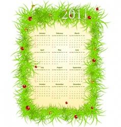 American spring 2011 calendar vector image