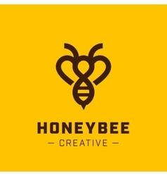 Bee Logo template vector image vector image