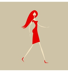 Fashion girl for your design vector image