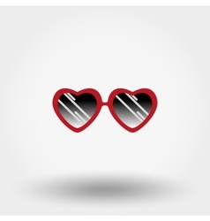 Heart Sunglasses Hipster fashion vector image