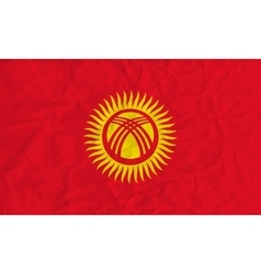 Kyrgyzstan paper flag vector image