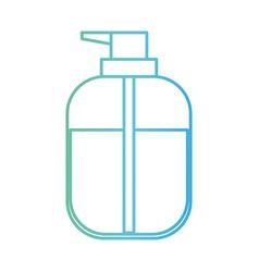liquid soap bottle dispenser in degraded green to vector image