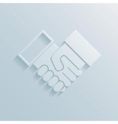 Paper handshake icon vector