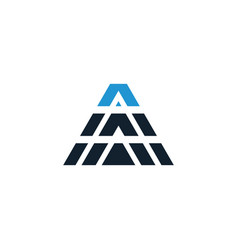 abstract triangle logo template vector image