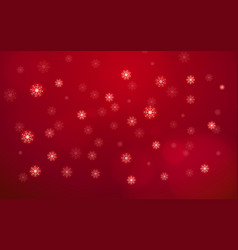 abstract white snow flake falling from sky on red vector image