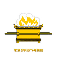Altar burnt offering in tabernacle vector