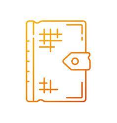 Ancient book gradient linear icon vector