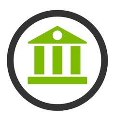 Bank flat eco green and gray colors rounded vector