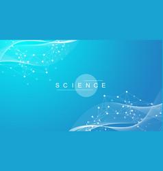 Big genomic data visualization dna helix dna vector