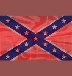 Blood soaked confederate flag vector