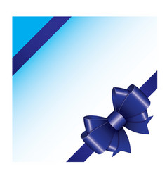 blue ribbon bow 04 vector image