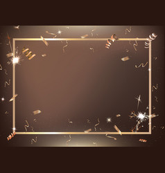 bronze gradient party and celebration background vector image