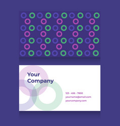 Business card template with circle pattern vector