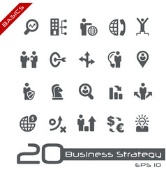 business strategy and management - basics vector image