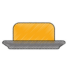 Butter spread piece vector