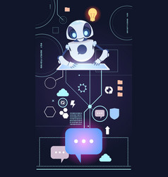 Chatbot robot technology chatter bot answer vector
