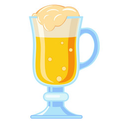 Colorful cartoon fancy light beer glass vector