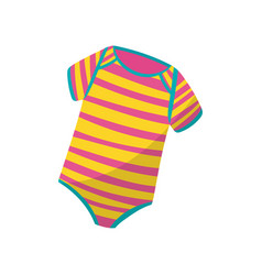 Colorful striped bodysuits for little child cute vector