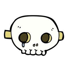 Comic cartoon skull mask vector