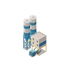Concrete production towers composition vector