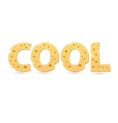 Cool word cheese vector