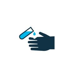 corrosive chemical icon colored symbol premium vector image