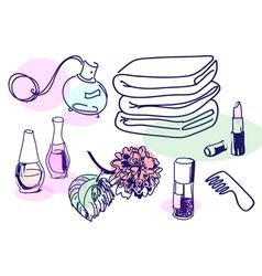Cosmetic vintage vector