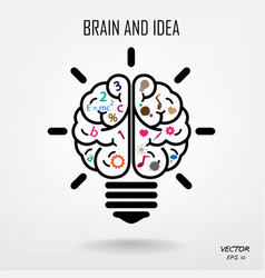 Creative brain Idea concept background vector