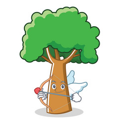Cupid tree character cartoon style vector