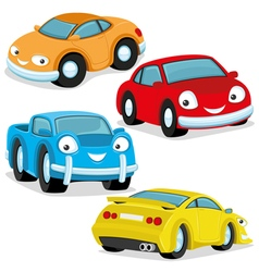 Cute colorful cars vector image