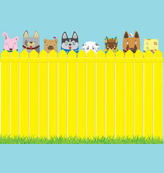 Cute pets background vector