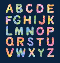 Decorative color alphabet vector