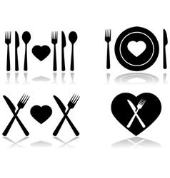 Dinner date vector image