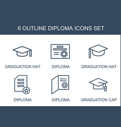 Diploma icons vector