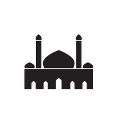 Double tower silhouette mosque custom graphic vector
