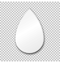 Empty white drop paper plate on transparent vector
