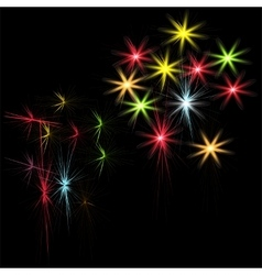 Festive patterned firework bursting in various vector image