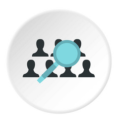 Finding friends in social networks icon circle vector